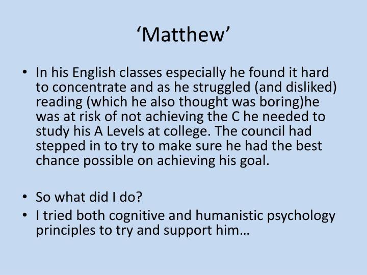 'Matthew'