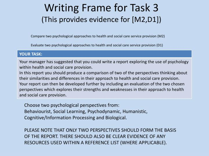 Writing frame for task 3 this provides evidence for m2 d1
