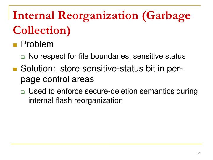 Internal Reorganization (Garbage Collection)