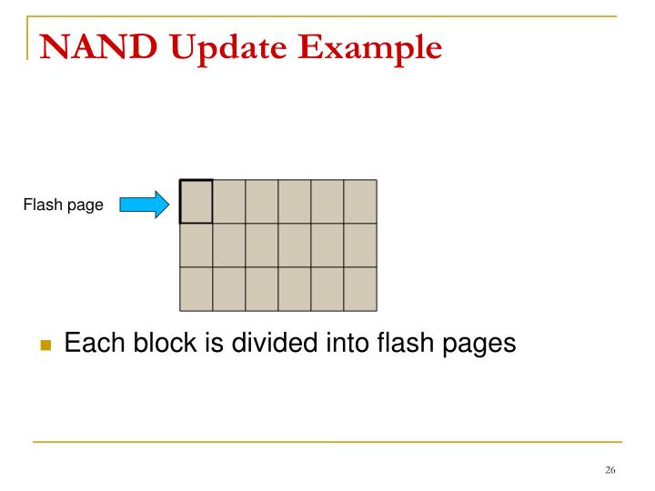 NAND Update Example