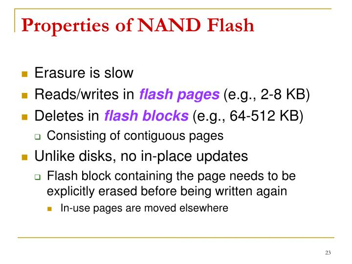 Properties of NAND
