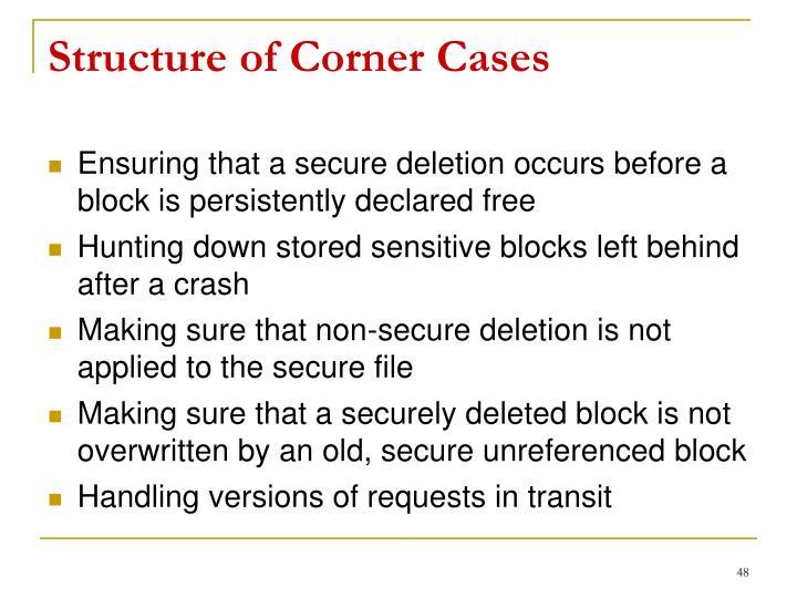 Structure of Corner Cases