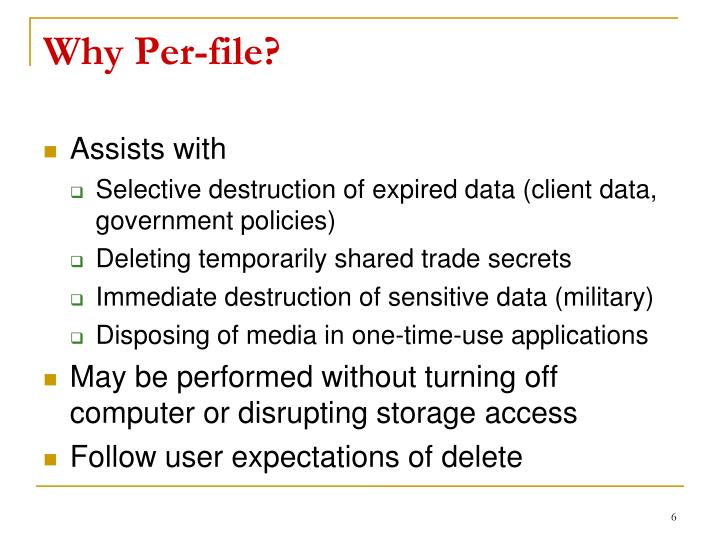 Why Per-file?