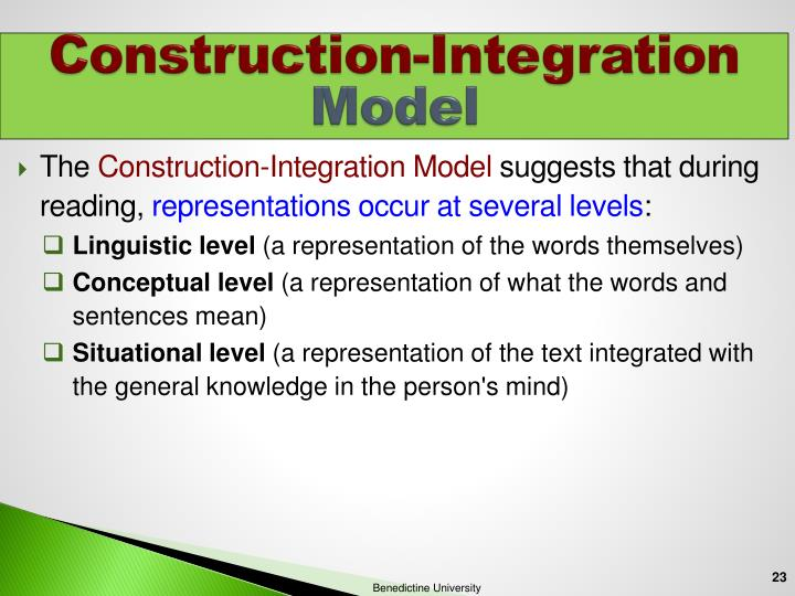 Construction-Integration