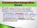 construction integration model3