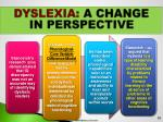 dyslexia a change in perspective