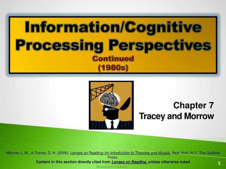 Information cognitive processing perspectives continued 1980s