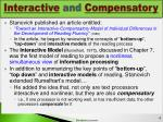 interactive and compensatory
