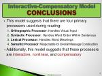 interactive compensatory model conclusions