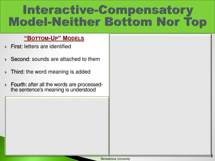 Interactive-Compensatory Model-Neither Bottom Nor Top