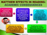 matthew effects in reading academic consequences