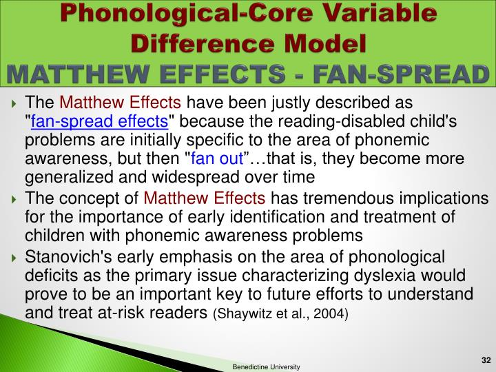 Phonological-Core Variable Difference Model
