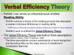 verbal efficiency theory1