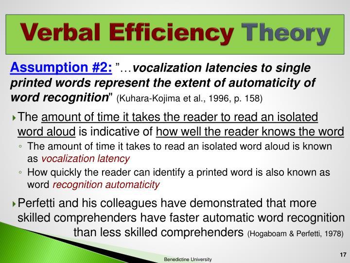 Verbal Efficiency
