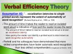 verbal efficiency theory3