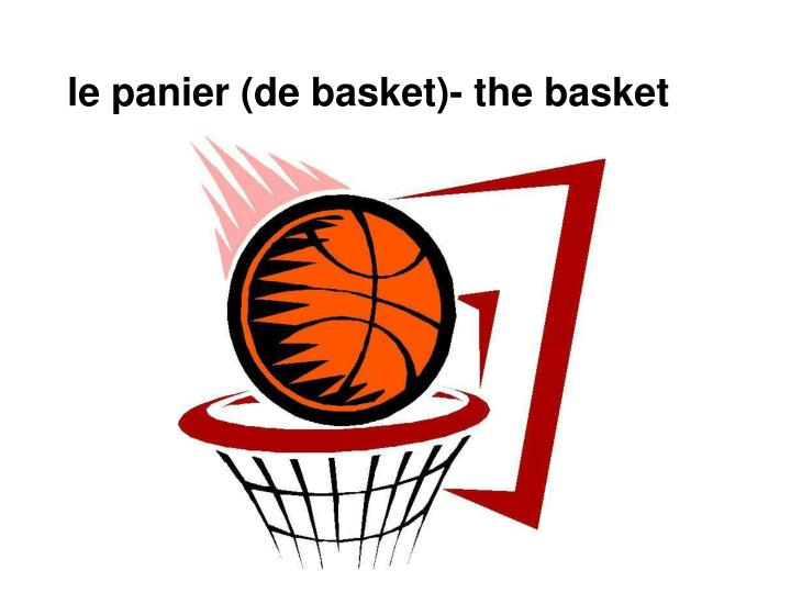 Ppt 50 mots de vocabulaire powerpoint presentation id 2139380 - Panier de basket gonflable ...