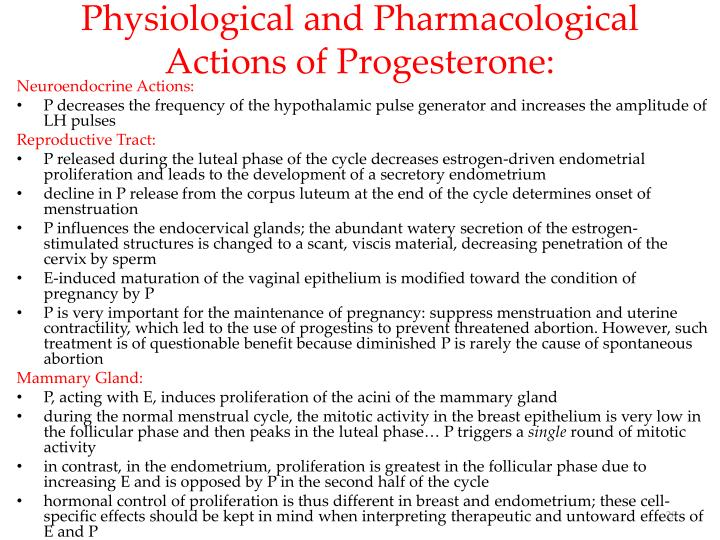 Physiological and Pharmacological