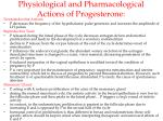 physiological and pharmacological actions of progesterone