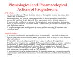 physiological and pharmacological actions of progesterone1