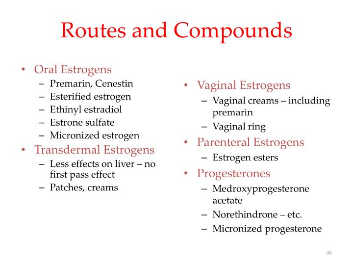 Routes and Compounds