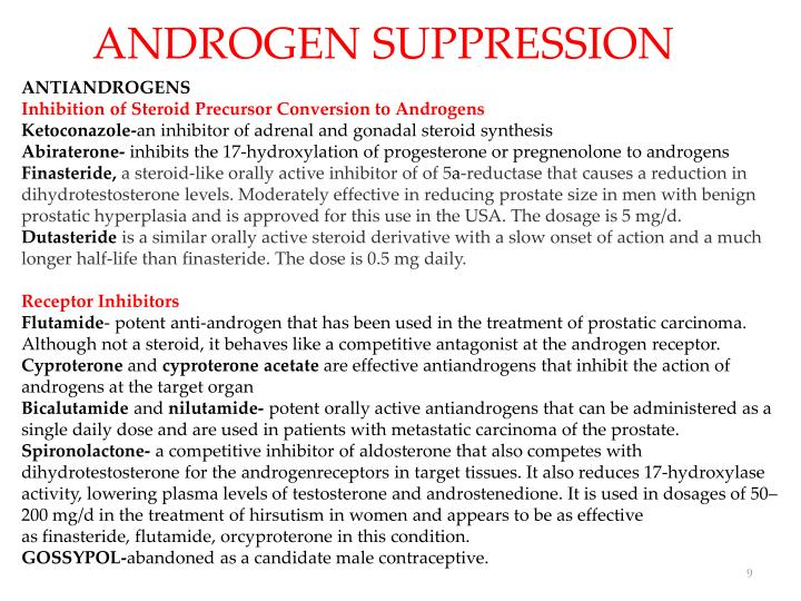 ANDROGEN SUPPRESSION