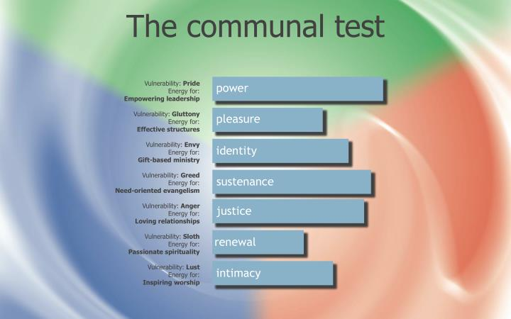 The communal test