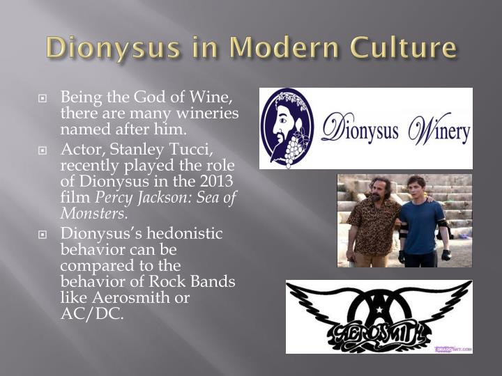 Dionysus in Modern Culture