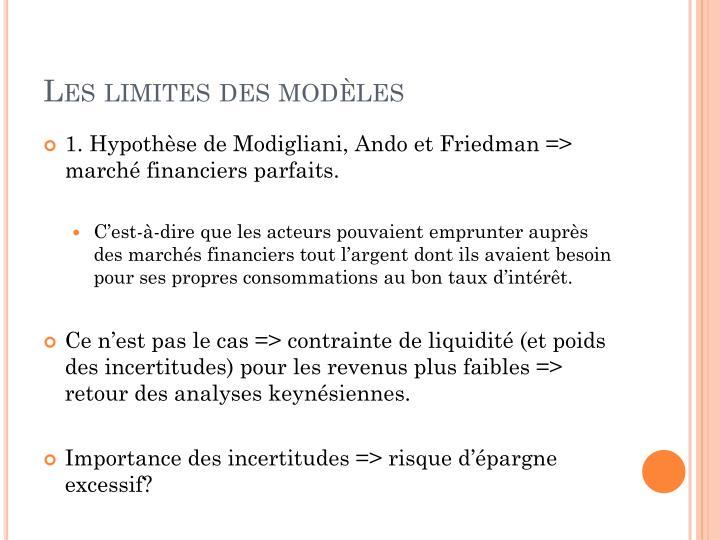Les limites des modèles