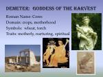 demeter goddess of the harvest