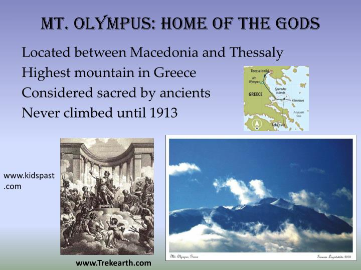 Mt olympus home of the gods