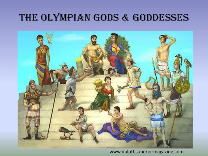 The olympian gods goddesses