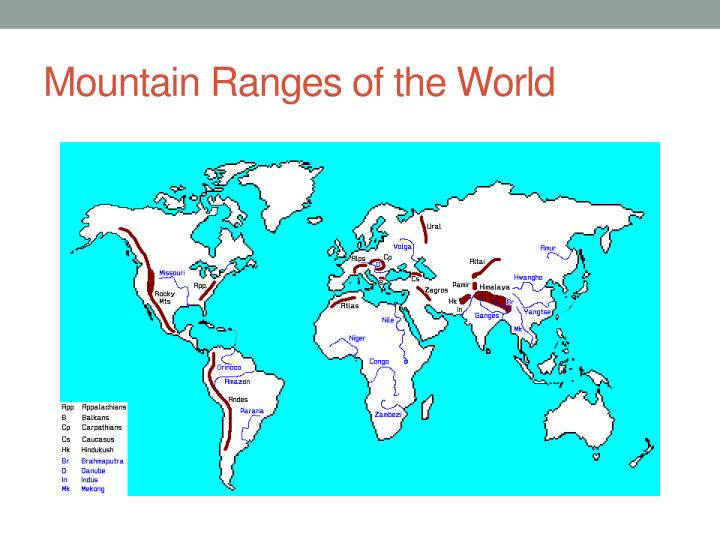 Mountain Ranges of the World