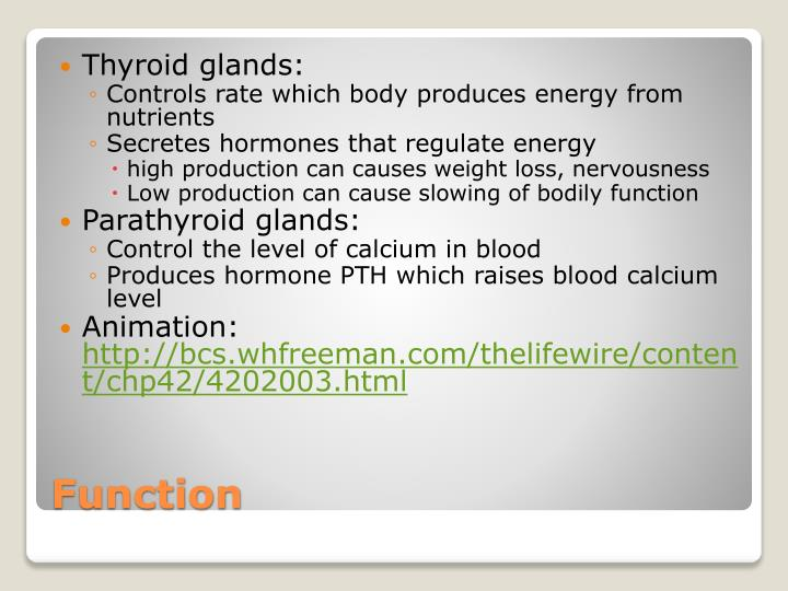 Thyroid glands: