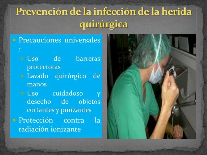 Prevención de la infección de la herida quirúrgica