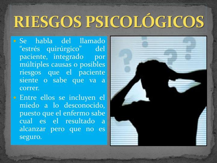 RIESGOS PSICOLÓGICOS