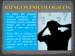 riesgos psicol gicos