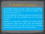 transporte seguro