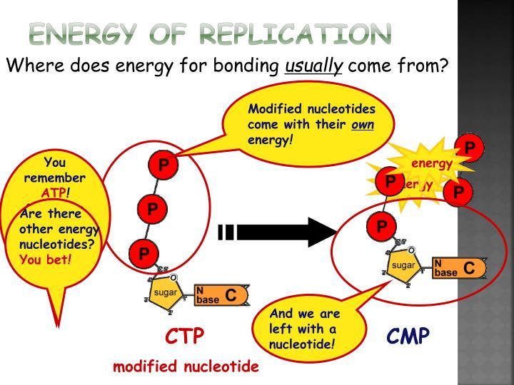 Energy of Replication