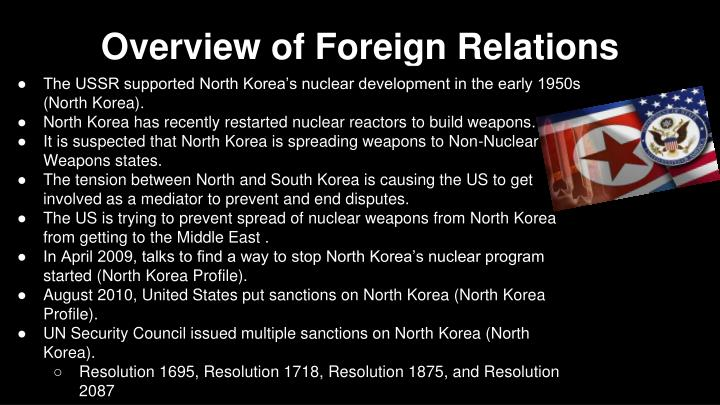 Overview of Foreign Relations