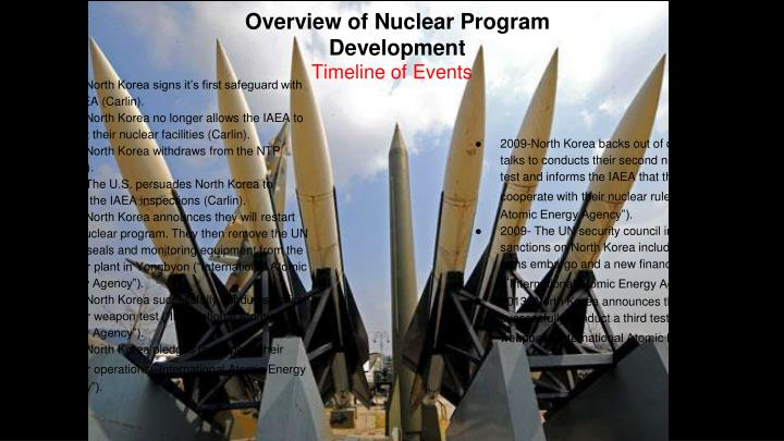 Overview of Nuclear Program Development