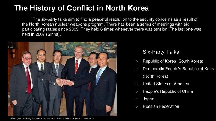 The History of Conflict in North Korea