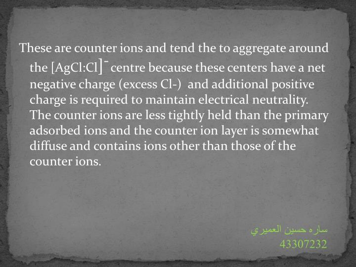 These are counter ions and tend the to aggregate around the