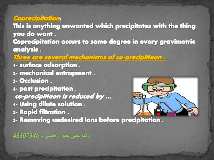 Coprecipitation