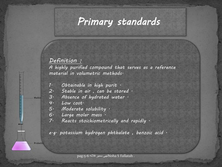 Primary standards