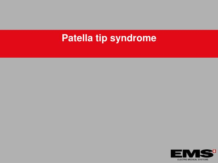 Patella tip syndrome