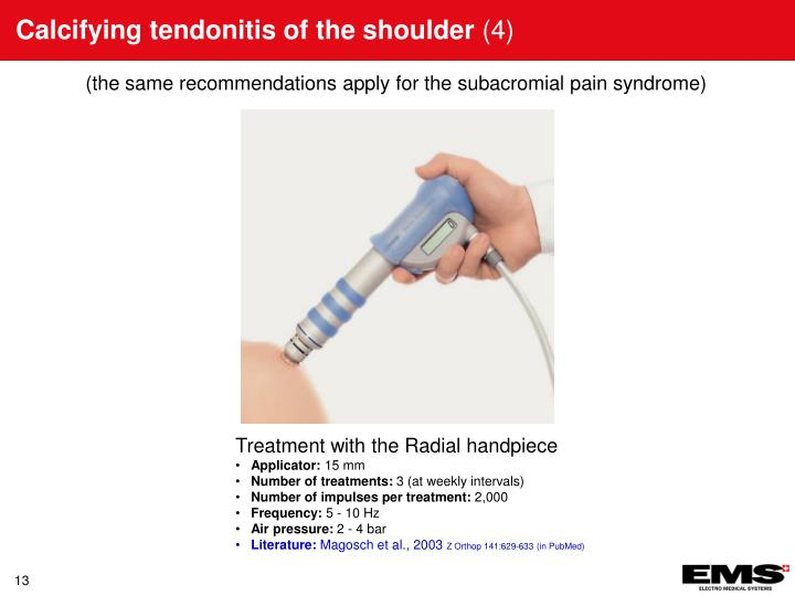 Calcifying tendonitis of the shoulder