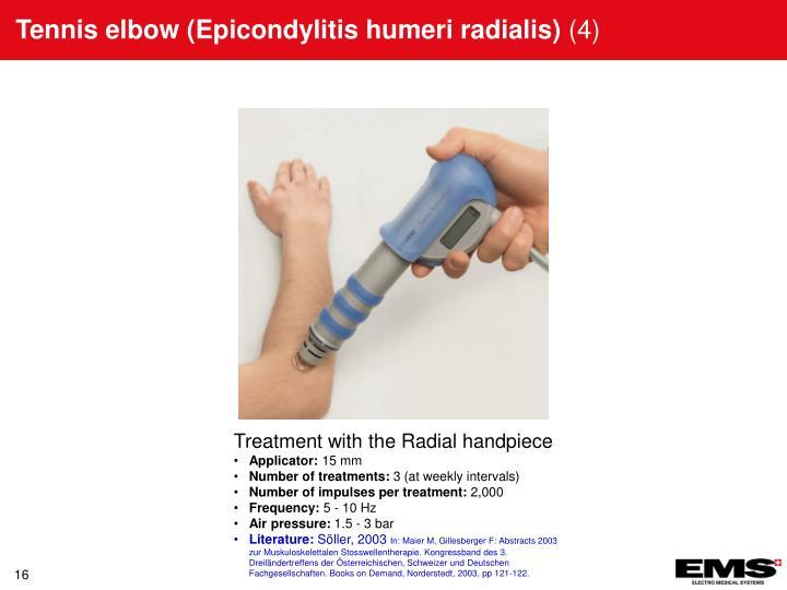 Tennis elbow (Epicondylitis humeri radialis)