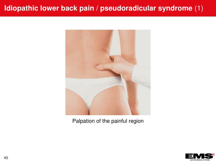 Idiopathic lower back pain / pseudoradicular syndrome