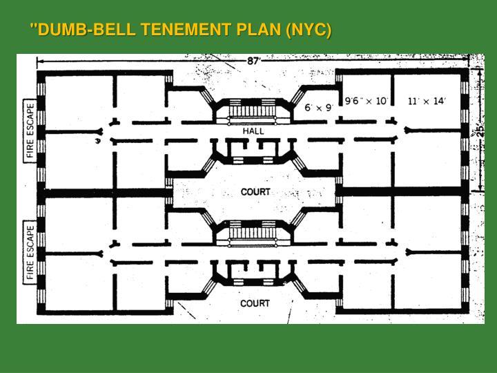 """DUMB-BELL TENEMENT PLAN (NYC)"