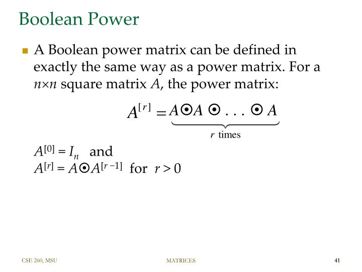 Boolean Power